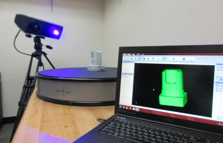 Using a 3D scanner to reverse engineer an injection mold