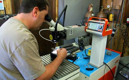 repairing an injection mold